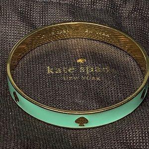kate spade NEW YORK Mint Green & Gold bangle